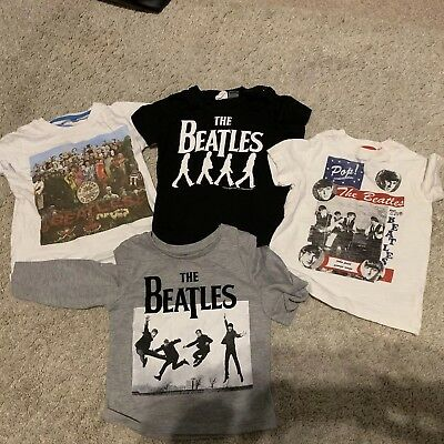 Four Baby Boys Beatles Tshirts - Excellent Condition