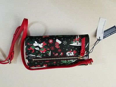 Disney Dooney & Bourke 2017 Christmas Woodland Winter Clutch New With Tags