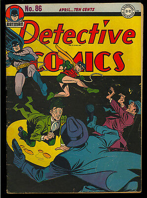 Detective Comics #86 Nice Original Owner Golden Age Batman DC 1944 VG