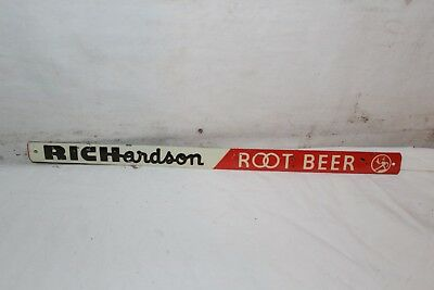 "Vintage 1950's Richardson Root Beer Soda Pop Gas Oil 12"" Embossed Metal Sign"