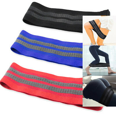 Set of 3 Hip Resistance Bands Loop Circle Body Shape Workout Booty Building Yoga
