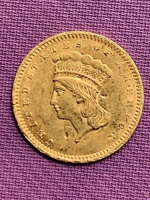 1857 Indian Princess $1 GOLD Coin           Details * US Coin