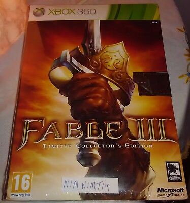 Fable 3 Collector's Edition Xbox 360 Brand New & Factory Sealed