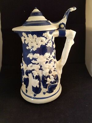 "Collectible 1973 Atlantic Mold A188 10"" Danish Dutch Beer Stein Pitcher Barware"
