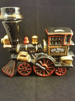 Collectible Ceramic Ezra Brooks Train Engine Decanter by Heritage China