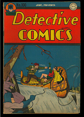 Detective Comics #100 Nice Original Owner Golden Age Batman DC 1945 VG+