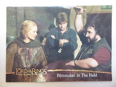 TOPPS Card : LOTR The Return Of The King  #82 FILMMAKER IN THE FIELD