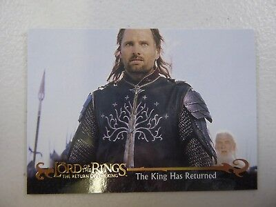 TOPPS Card : LOTR The Return Of The King  #76 THE KING HAS RETURNED