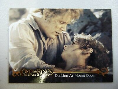 TOPPS Card : LOTR The Return Of The King  #77 DECISION AT MOUNT DOOM