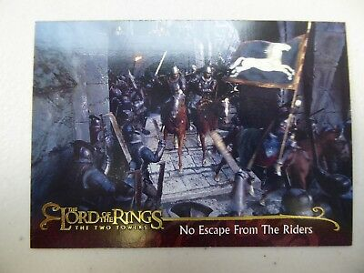 TOPPS Lord of the Rings: The Two Towers - Card #75 NO ESCAPE FROM THE RIDERS
