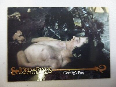 TOPPS Card : LOTR The Return Of The King  #69 GORBAG'S PREY