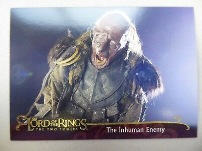 TOPPS Lord of the Rings: The Two Towers - Card #70 THE INHUMAN ENEMY