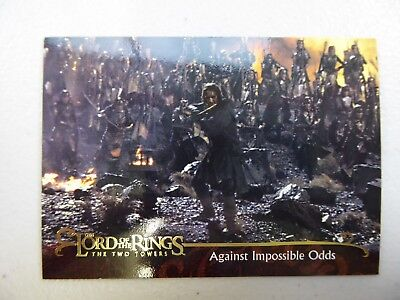 TOPPS Lord of the Rings: The Two Towers - Card #140 AGAINST IMPOSSIBLE ODDS