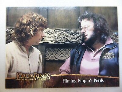TOPPS Card : LOTR The Return Of The King  #86 FILMING PIPPIN'S PERILS