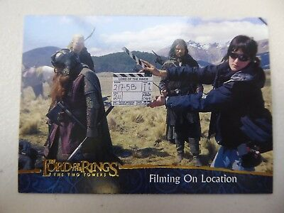 TOPPS Lord of the Rings: The Two Towers - Card #80 FILMING ON LOCATION