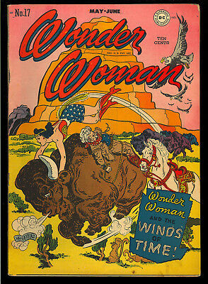 Wonder Woman #17 Very Nice Original Owner Golden Age DC Comic 1946 FN-