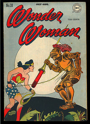 Wonder Woman #18 Very Nice Original Owner Golden Age DC Comic 1946 FN+