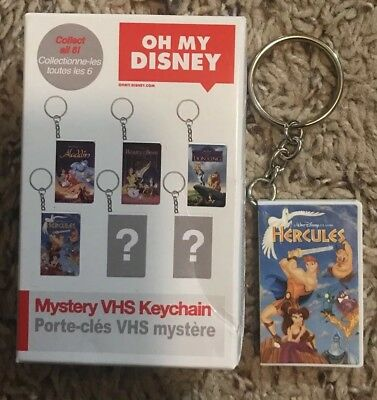 """Disney Mystery VHS Keychain """"Hercules"""" - Part of the Oh My Disney Collection"""