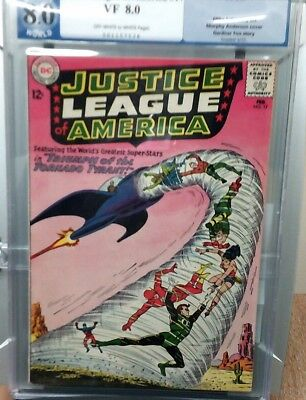 Justice League of America no. 17 grade 8.0 PGX (not CGC or CBCS) Silver Age.