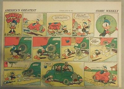 Donald Duck Sunday Page by Walt Disney from 7/28/1940 Half Page Size