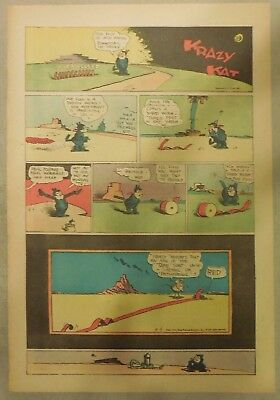 Krazy Kat Sunday by George Herriman from 8/9/1942 Tabloid Size Page