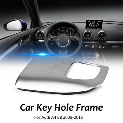 Stainless Steel Car Interior Key Hole Frame Cover Trim For Audi A4 B8