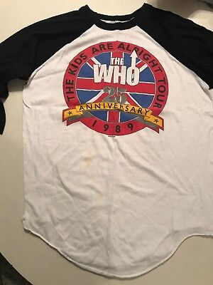 The Who 25Th Anniversary Concert Tee Shirt Kids Are Alright 1989