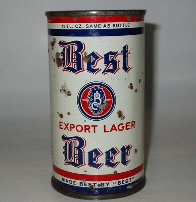 Best Export OI flat top beer can, Chicago, IL, IRTP, 1930s
