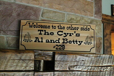 Personalized Custom Wood Sign Carved Plaque Routed Cabin Camp Name Signs Hunting
