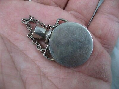 Metal Perfume Bottle Snuff Pendant Necklace Vintage