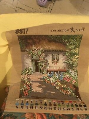 Cottage Garden Tapestry Unfinished Canvas Wool Piece