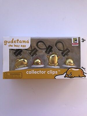 SDCC 2018 Gudetama The Lazy Egg Collector Clips EXCLUSIVE