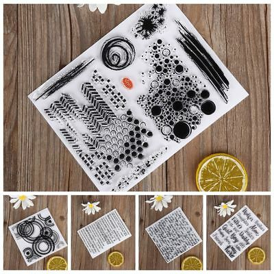 Clear DIY Crafts Silicone Rubber Scrapbooking Transparent Stamp English Words