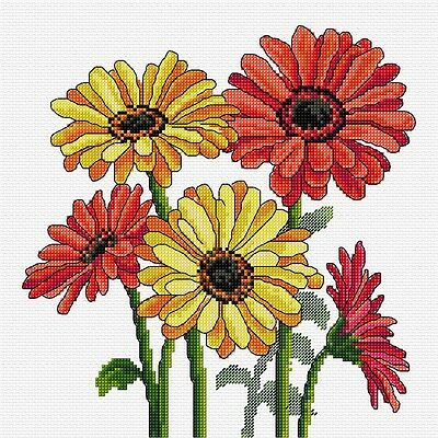 Gerberas - Counted Cross Stitch Chart from Country Threads