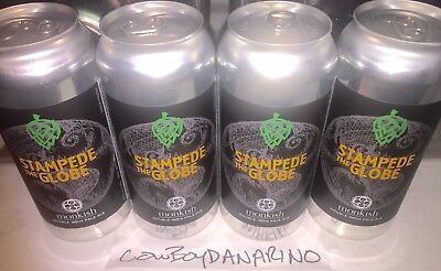 🚨Fresh Monkish Brewery Release Only Sold Out STAMPEDE THE GLOBE DIPA 4-pack