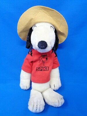 Vintage Peanuts ~ SPIKE SNOOPY'S BROTHER w/ Hat Shirt & Collar 1968-1975 Plush