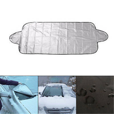 Windshield Window Snow Ice Frost & Sun Shade Protector Tarp Flap Cover Cleaner