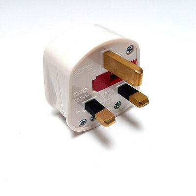 2X Main Plug Top with switch on/off 13A Amp Fused Switch Neon Light UK PLUG GP3