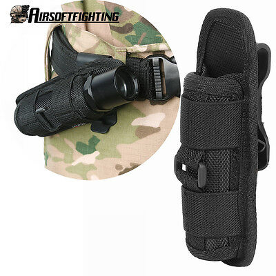 UltraFire Flashlight Pouch Holster Belt Carry Case Holder with 360 Degrees Rotat
