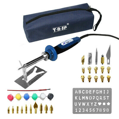 Electric Wood Burning Pen Set Soldering Iron with 34 Tips Accessories 40W