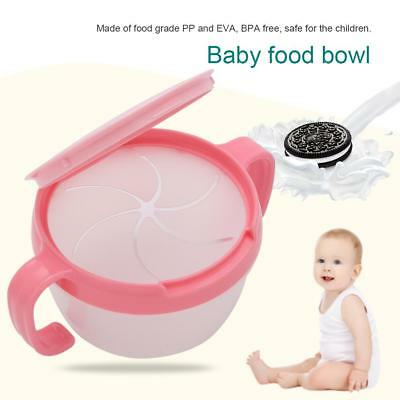 Baby Bowls Spill-Proof Toddlers Kids Non Spill Food Snacks Fruit Bowl Lunch Box