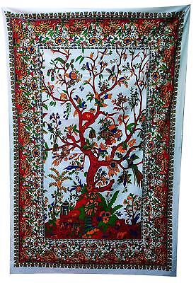 Tree of life Traditional Mandala Tapestry Indian Wall Hanging Cotton Bed Sheet
