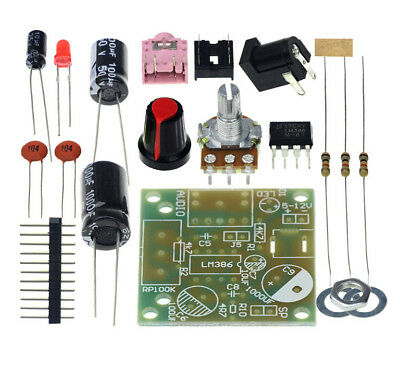 ELECTRONIC DIY KIT LM386 Super Mini Audio Amplifier Board 3 5mm 3-12VDC