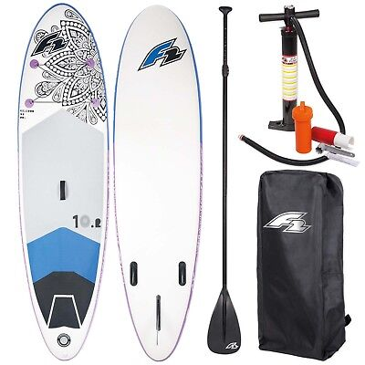 "F2 Sup Feelgood 10,2"" 2018 Stand Up Paddle Board Aufblasbar + Paddel Bag Pumpe"