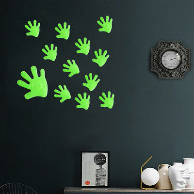 12Pcs Luminous Palm Hand Wall Sticker Glow In Dark Removable Room Decor Strict
