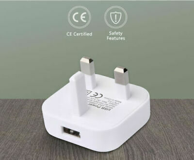 Usb Wall Charger Mains Plug Adapter For Mobile Phone X 8 Plus 7 6 5 Ipod Ipad Et