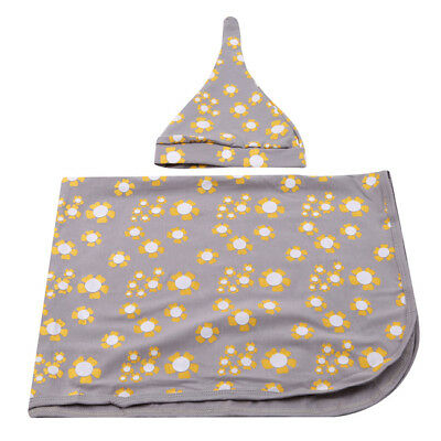 Flower Pattern Hooded Wrap Towel Baby Supplies Photography Suit Hug Pad 8C