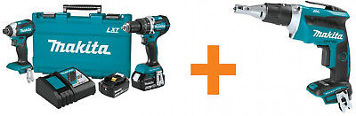 Makita 18-Volt LXT Lithium-Ion Brushless Cordless Hammer Drill And Impact Combo