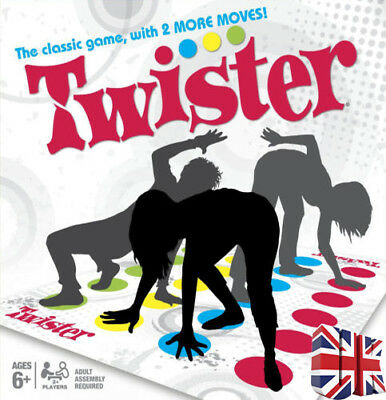Funny Twister The Classic Game With 2 More Moves Hasbro Family Party Games UK