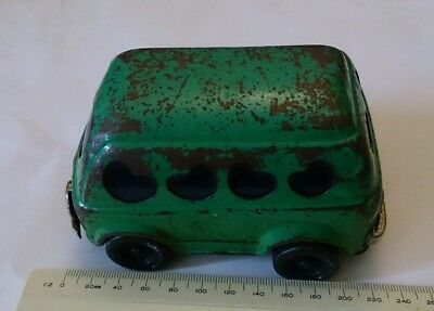 Vintage TIN TOY Green CAR Made in JAPAN TDK